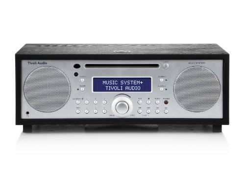 Tivoli Music System+ Bluetooth DAB+/UKW/CD 2.1 System in schwarzer Esche/Silber (Cd-radio-tivoli)