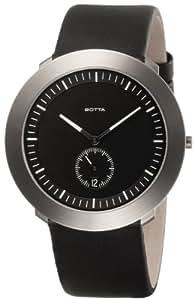 Botta - 529110 - Montre Homme - Quartz - Analogique - Bracelet Cuir Noir