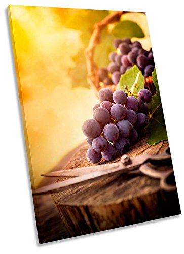 Geek-ernte (Ernte Trauben Vineyard Wein Leinwand Kunstdruck Bild, 90cm wide x 135cm high)