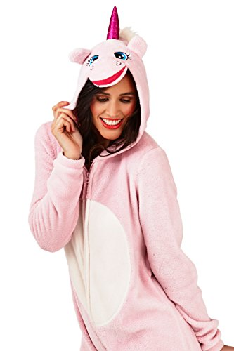 Generic - Grenouillère - Animal - Manches Longues - Femme rose rose Small Light Pink Unicorn