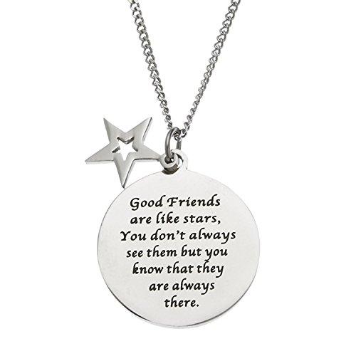 hacool-buoni-amici-sono-come-stelle-in-argento-sterling-unisex-disco-e-stella-amicizia-ciondolo-coll