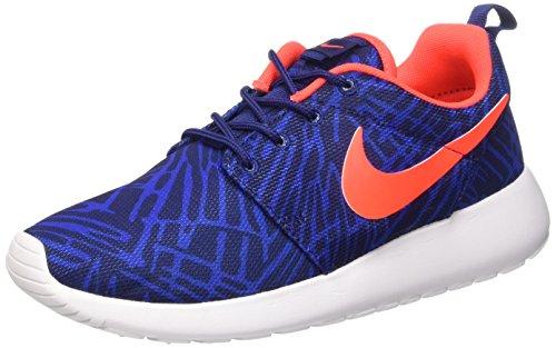 Nike Wmns Roshe One Print Scarpe da ginnastica, Donna Multicolore (Lyl Bl/Brght Crmsn-Gm Ryl-Wht)