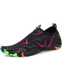 Voovix Calcetines de Agua Transpirable Aqua Unisex Zapatos de Agua Descalza  de Secado Rápido Zapatillas Livianas a1e50d05231