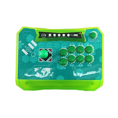 wisamic inalámbrico Arcade Joystick controlador con USB-Key para XBOX360, PS3, PC, Android, Raspberry, doble alimentación