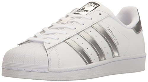 Adidas Superstar White Black Womens TrainersC77153 White/Silver/Silver