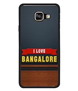 PrintVisa Designer Back Case Cover for Samsung Galaxy A3 (6) 2016 :: Samsung Galaxy A3 2016 Duos :: Samsung Galaxy A3 2016 A310F A310M A310Y :: Samsung Galaxy A3 A310 2016 Edition (Love City Bangalore Capital Wooden Texture)