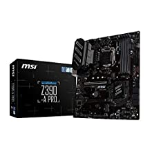MSI Z390-A PRO Motherboard ATX, LGA1151, DDR4, LAN, USB 3.1 Gen2, Type-C, M.2, RGB Mystic Light, VGA, DVI-D, Display Port, Intel 8th and 9th Gen