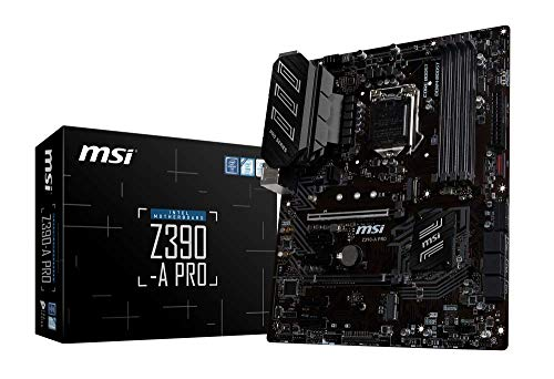 MSI Z390-A PRO - Placa base PRO Series (LGA 1151, 2 x PCI-E 3.0 x16, PCI-E Steel Armor, DDR4 Boost, 2 x USB 3.1 Gen 2, Turbo M.2, Core Boost)