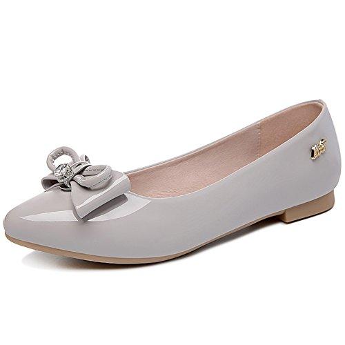 Chaussures Pointues De Dame,Bow Flats,La Bouche Peu Profonde Des étudiants De Chaussures B