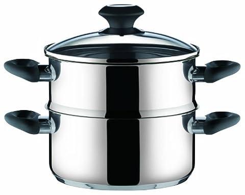 Deep pot/steamer PRESTO with cover, ø 20 cm
