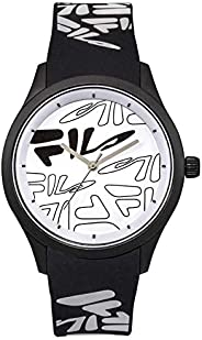 Fila Style Mindblower Men's White Dial Silicone Band Watch - 38-129