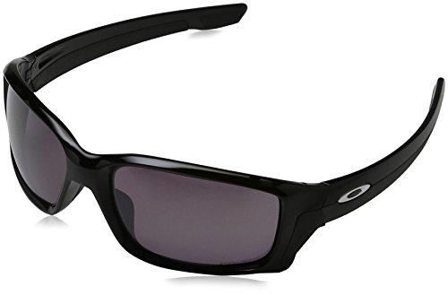 Oakley Herren Straightlink 933107 58 Sonnenbrille, Schwarz (Polished Black/Prizmdailypolarized),
