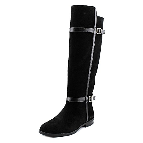 INC International Concepts Ameliee 2 Wildleder Mode-Knie hoch Stiefel Black