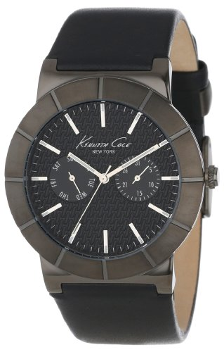 kenneth-cole-mens-black-bezel-woven-effect-dial-black-leather-strap-kc1929