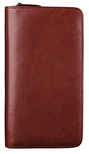 """Original CalcCase """"Executive"""" - Schutztasche für Grafikrechner - aus braunem Rindsleder mit Geschenkbox"""