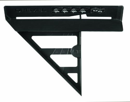 Dremel 2615S840JA Dremel DSM840, Gehrungswinkel-Vorsatz, Vorsatzgeräte Kompakt-Kreissäge, schneiden von Fußbodenleisten, Geradschnitte, Gehrungsschnitte