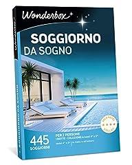Idea Regalo - WONDERBOX Cofanetto Regalo per Coppia - Soggiorno da Sogno - 445 SOGGIORNI per 2 Persone in alberghi 4* e 3* in Italia e all'estero