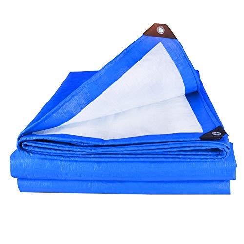 lane wasserdicht mit Ösen, Plane regensicher, Sonnenschutz, UV-beständig, staubdicht Winddicht, Leichter Bodenschuppen, ZHAOFENGE (Color : Blue, Size : 4 x 5m) ()