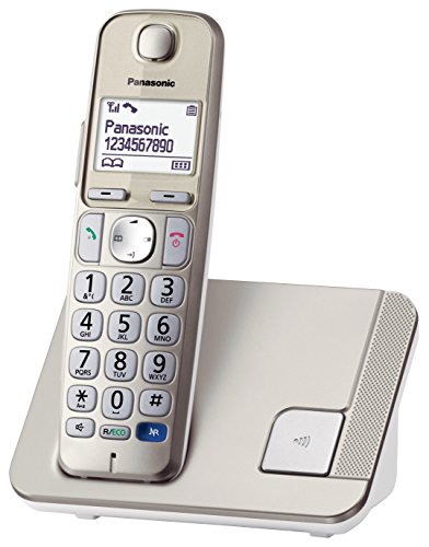 Panasonic KX-TGE210GN DECT Seniorentelefon (schnurlos), hörgerätekompatibel, Großtastentelefon in Champagner