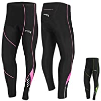 Brisk Bike Compression Trouser Ladies Cycling Tights Padded Winter Thermal Pants Womens Cycle Bicycle Trousers