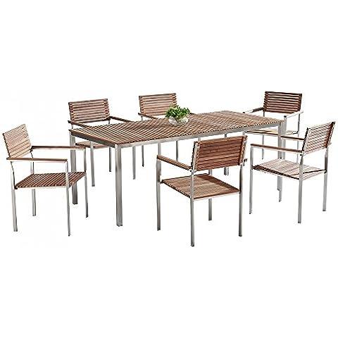 Set di tavolo e sedie da giardino