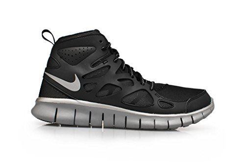 Nike Nike Free Run Jungen Laufschuhe Schwarz-Silber