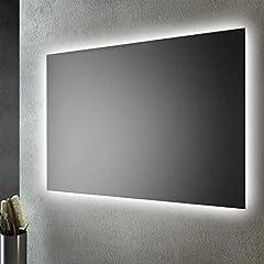 Idea Regalo - SMMO Specchio Bagno retroilluminato LED sul perimetro 80x60 cm