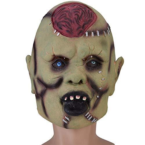 lahomie Latex Kostüm für Erwachsene, Horror Scary Maske Gesicht für Cosplay Kostüm Halloween Party