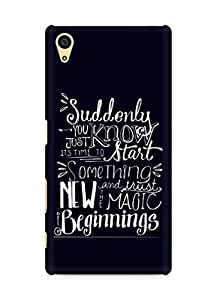 AMEZ start something new and the magic begins Back Cover For Sony Xperia Z5