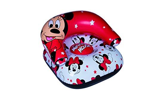Disney, Minnie Mouse 46173-S Strandsitz, aufblasbar, PVC, Rot/Weiß/Schwarz, Einheitsgröße