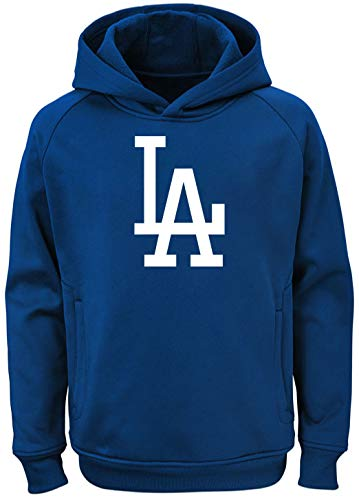 Outerstuff MLB Youth 8-20 Team Color Polyester Performance Primary Logo Pullover Hoodie Hoodie, Jungen, Los Angeles Dodgers, X-Large 18/20 US