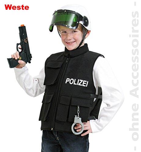 Kinderkostüm Polizei Einsatzweste schwarz Gr. ()