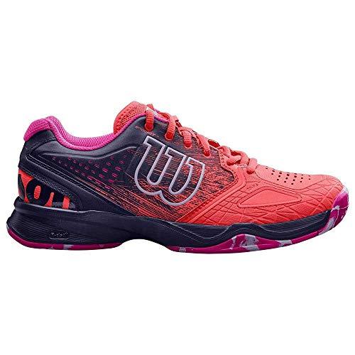 Wilson Femme Chaussures de Tennis, Corail/Bleu Foncé (Fiery Coral/Evening Blue/Pink Glow), Taille: 40 1/3