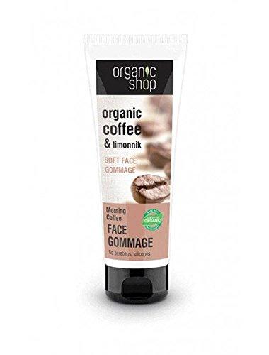 ORGANIC SHOP -Softes Peeling für Gesicht, Kaffee am Morgen - Schleifpartikeln in Form von...