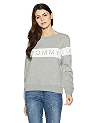 Tommy Hilfiger Womens Sweatshirt (A7AJH112_Mid Grey Heather_S)