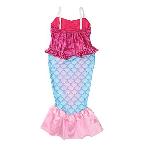 Macxy - Fantasia Vestiti per bambini I bambini vestiti da Cosplay Costume Principessa Raperonzolo Wear Perform Abiti [6T]