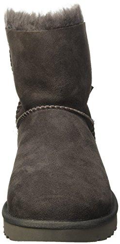 Ugg Damen Mini Bailey Bow Schlupfstiefel Grau (Grigio)