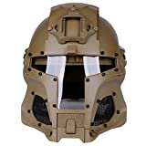 Giplar Tactical Military Airsoft Paintball Full Face Maske Helm Outdoor Integrated Tactical Helm Tan