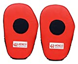 #7: Henco Focus Boxing and Karate Punching Pads/Coach Pads, 30 cm x 7 cm (Red, 1 Pair)