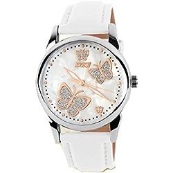 ufengke® lovely strap butterfly scale luminous waterproof wrist watch ,girls dress gift watch,white