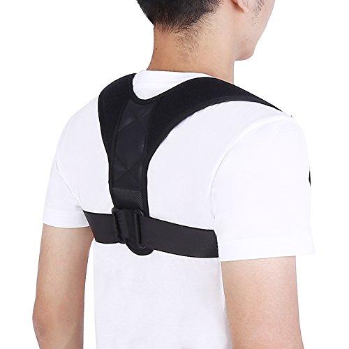Correttore della postura, reggiseno regolabile per allenare la schiena, spalla dritta, ideale per collo, schiena e dolori alle spalle per uomo e donna.