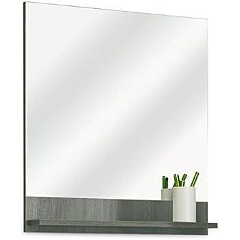 Badezimmerspiegel Badspiegel Wandspiegel ORSON 2   Graphit Struktur ...