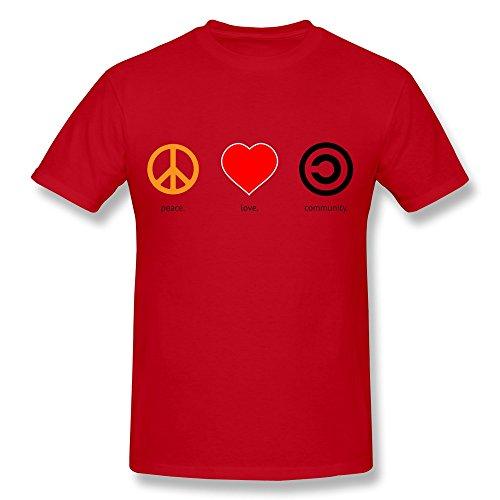 YungGoo T-shirt  Herren T-Shirt Gr. L, Schwarz - Rot