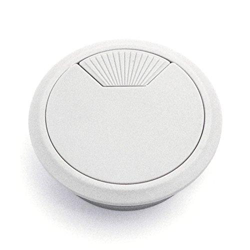 5 Stück SO-TECH® Kunststoff Kabeldurchführung Kabeldurchlass Ø 60 mm weiß