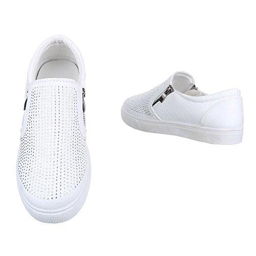 Ital-Design , chaussons d'intérieur femme Weiß