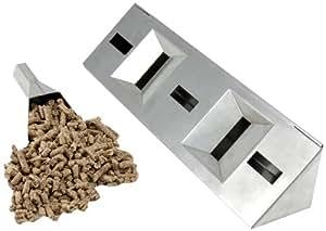 Charcoal Companion CC4086 lungo Acciaio Gas Grill O-Fumatore Box con pellet Tube - Natural