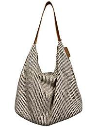 29ff9a0b70725 Fishbag Handtaschen Tasche Umhängetasche Damen Groß Hobo Boho Flechttasche  Elegante Vintage Taschen Arbeitstasche Grobstrickdesign