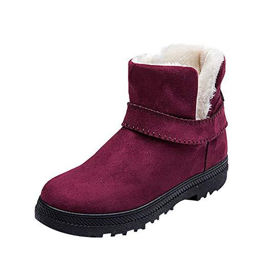 Stivali donna invernali,liuchehd autunno inverno pelliccia neve stivali con tacco snow boots eleganti antiscivolo impermeabile stivali cavaliere short stivali