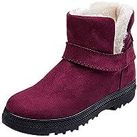 Zapatos Mujer Invierno K-Youth Botas de Nieve Mujer Botines Mujer Plataforma Fiesta Calientes Botas para Mujer Zapatos de Tacón Zapatillas Zapatos Interiores Zapatos de Nieve