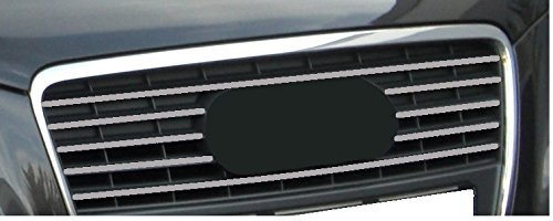 15mm silbergrau 5x Aufkleber passend für Kühlergrill , Sticker, Farb Streifen, Tuning